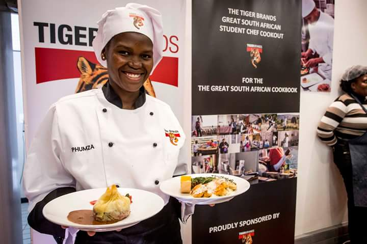 Phumza Holland with her 2 WINNING DISHES:  Main Course and Dessert